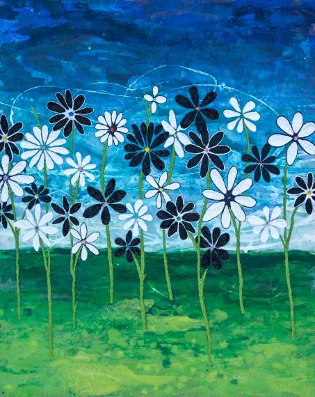 BandW Flowers